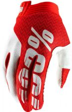 New 100% iTrack Glove Motocross Red/White S M L XL